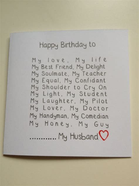 Best 25 Husband Birthday Cards Ideas On