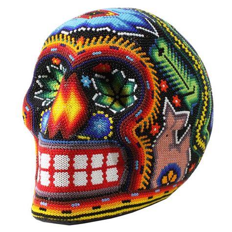 huichol bead symbols huichol bead collection huichol skull kumukemai