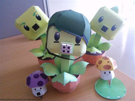 plants vs zombies paper crafts plants vs zombies paper crafts