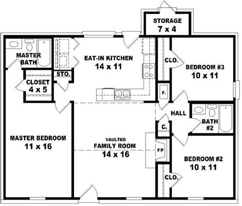 and bathroom house plans 653624 affordable 3 bedroom 2 bath house plan design