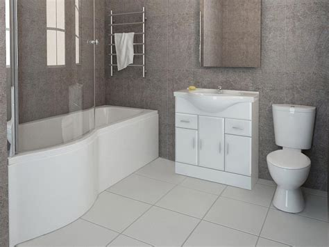 Images Of Bathroom Suites p shaped bathroom suite vanity unit sink toilet glass