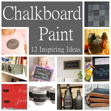 chalkboard paint crafts diy home sweet home 12 inspiring ideas for using