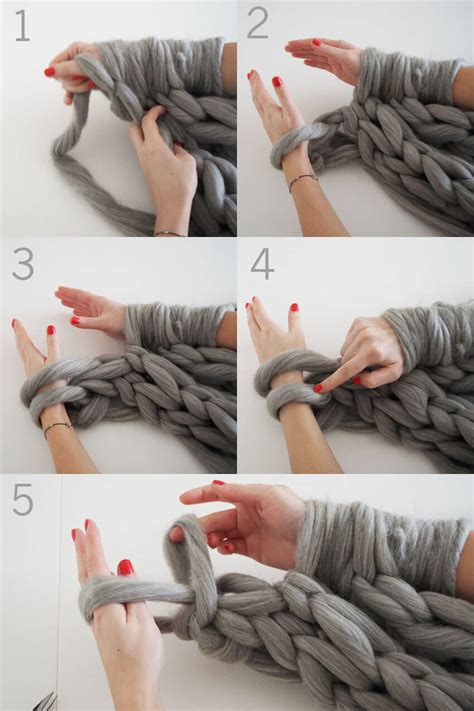 arm knitting scarf step by step knit an infinity scarf in 30 minutes homeyou