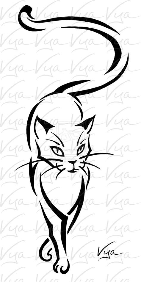 cat tattoo by vyamester deviantart com on deviantart