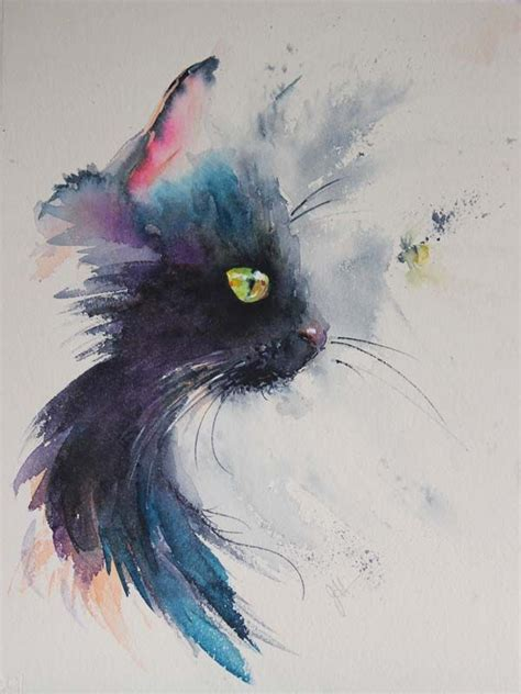 black cat painting designs 25 best ideas about watercolour painting on