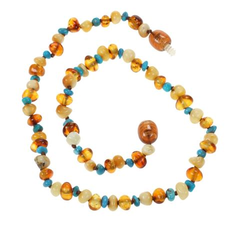 teething necklace genuine baltic and turquoise teething
