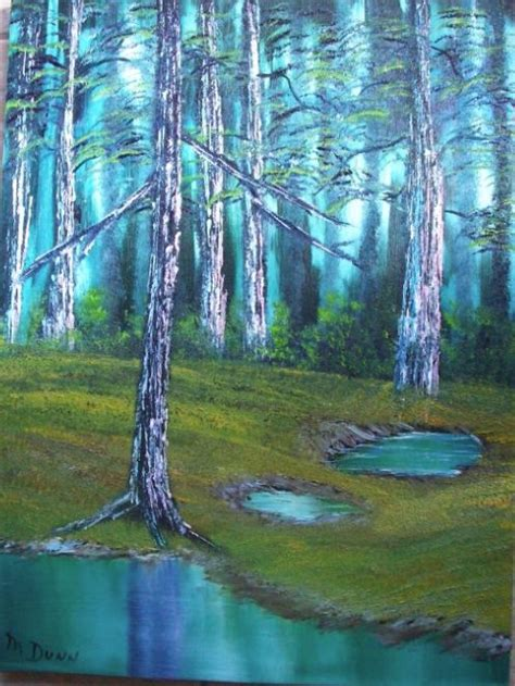 bob ross painting forest secluded forest jpg