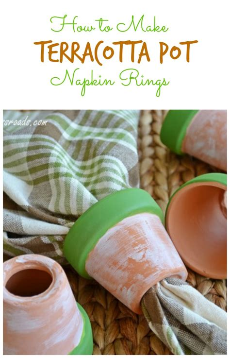 how to make terracotta how to make terracotta pot napkin rings cottage at the