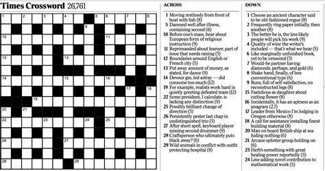 crossword clue variety cryptic crossword the new york times