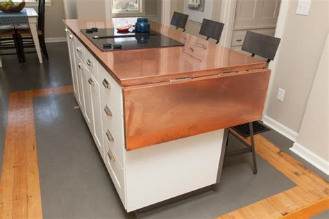Kitchen Island Table On Wheels jennifer and chris craftsman kitchen portland by
