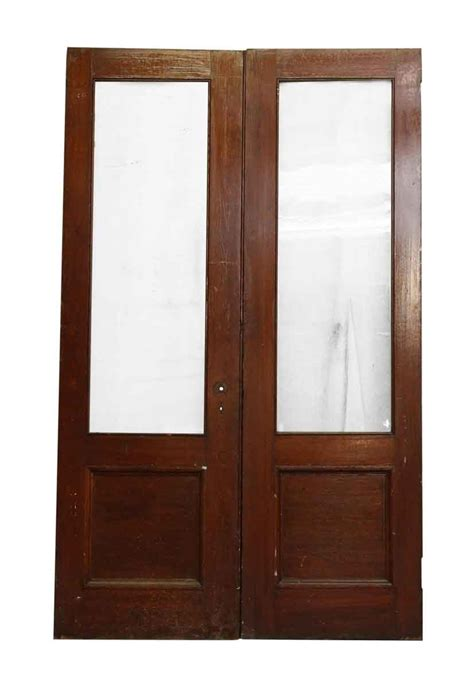 wooden doors with glass panels pair of wooden doors with glass panel olde things