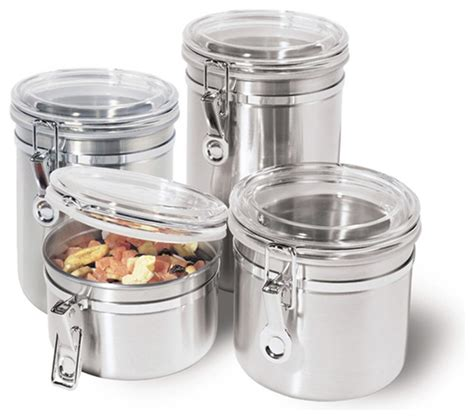 Glass Canisters Kitchen stainless steel kitchen storage container kitchen