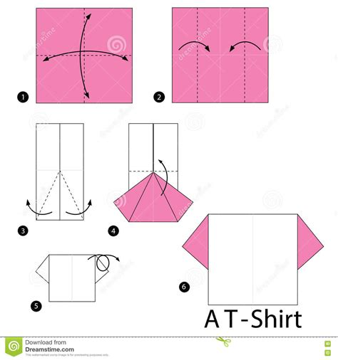 how to fold an origami shirt 233 par 233 comment faire 224 origami un t
