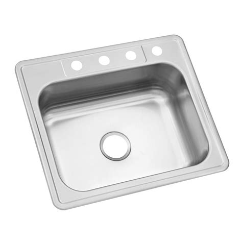 single kitchen sink glacier bay drop in stainless steel 25 in 4 single