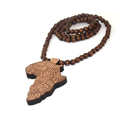 wooden bead necklace hip hop baoyi jewelry new africa map wooden hip hop wooden pendant