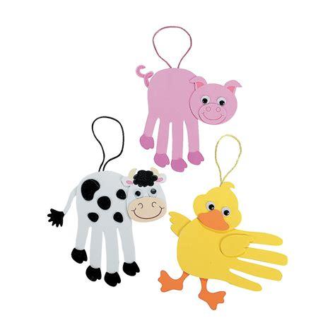 farm animals crafts for farm animal handprint craft kit trading