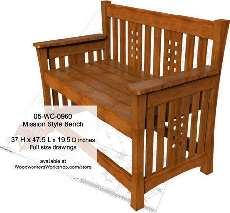 mission woodworking 05 wc 0960 mission style bench woodworking plan