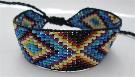 how to make indian beaded bracelets huichol american inspired beaded bracelet or anklet