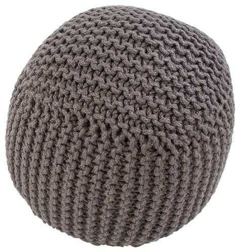 knitted poufs uk jute knitted pouf umber contemporary footstools