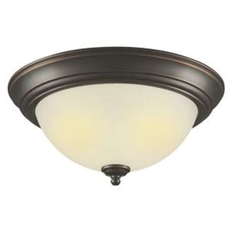 home depot lighting fixture hton bay 2 light outdoor rubbed bronze flushmount