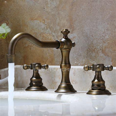 antique kitchen sink faucets vintage antique bronze three bathroom sink faucet