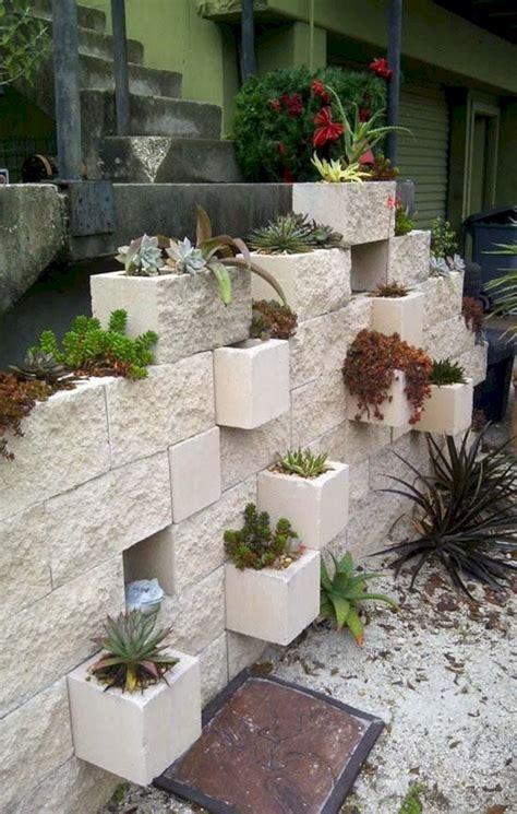 cinder block garden wall cinder block garden wall planter diy fres hoom