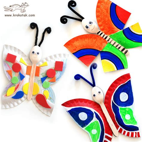 butterfly paper plate craft craftionary
