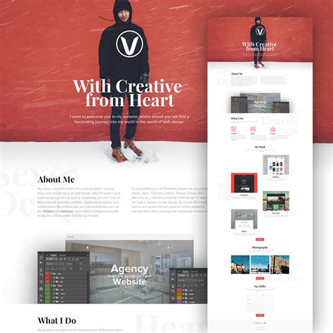templates free clean personal website design template free psd