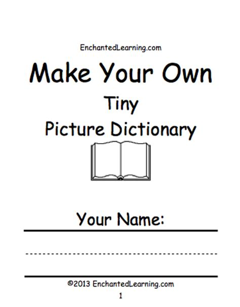 print your own picture book make your own tiny picture dictionary a book to