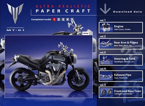 yamaha paper craft moto de papercraft de yamaha para descargar y armar