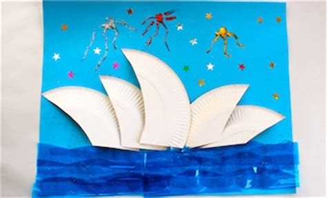 australia day craft crafts the sydney opera house australia day