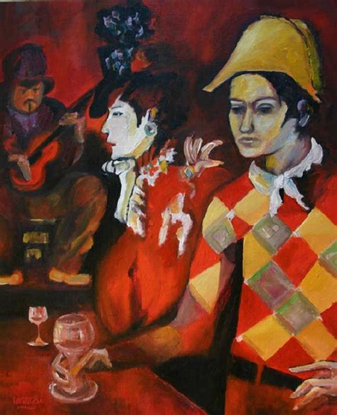 picasso glass paintings pablo picasso paintings period harlequin with glass