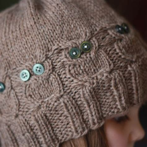 knitting patterns for owls knit owl hat winter toque with button