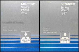 1989 mitsubishi mirage repair shop manual set original 1987 mitsubishi mirage repair shop manual set original