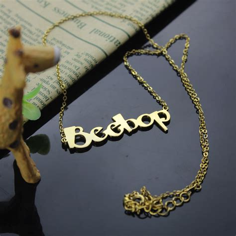 make your own gold jewelry create your own name necklace 18k gold plated