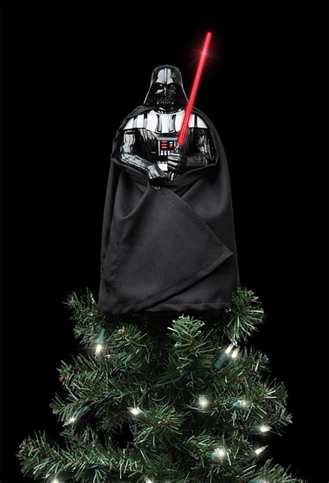 wars tree lights wars lighted darth vader tree topper thinkgeek
