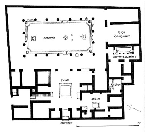 house of the vettii floor plan house of the vettii pompeii 2nd c bc domestic