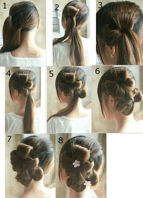 step by step guide to a beauitful hairstyle flower tie updo homecoming best hairstyles step by step