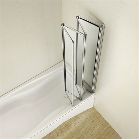 bath folding shower screens 4 fold 900x1400mm folding shower glass bath screen matt