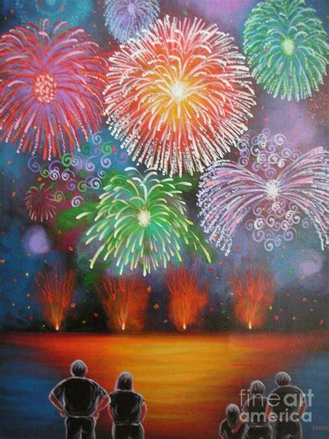 spray paint fireworks fireworks iii original acrylic folk painting by