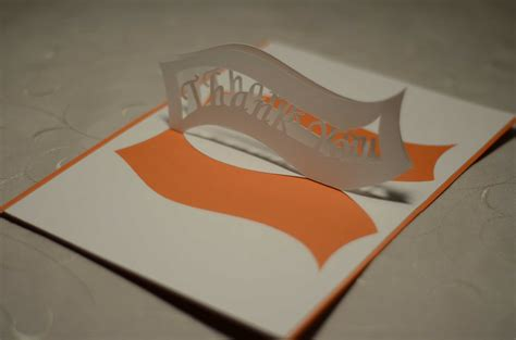 how to make pop up thank you cards thank you pop up card ribbon creative pop up cards