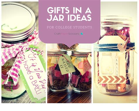 college student gift ideas gifts in a jar ideas for college students craft paper