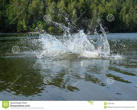 big water big water splash in lake royalty free stock photos image