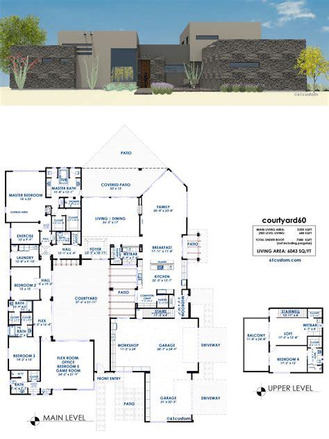 modern house plans courtyard60 luxury modern house plan 61custom