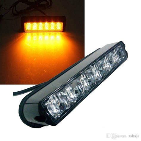 led beacon light bar 6 led light bar beacon vehicle grill strobe light