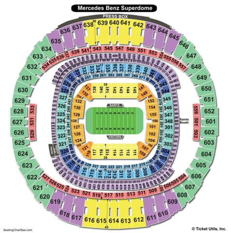 Where Is The Mercedes Superdome by Mercedes Superdome Seating Chart Seating Charts And