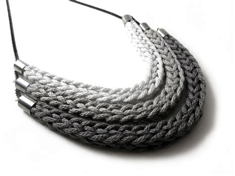 knitting jewelry catirpel necklace on behance