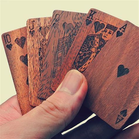 woodworking gifts wooden cards the awesomer