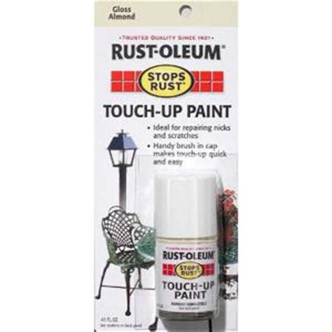 home depot paint touch up rust oleum stops rust 0 45 oz gloss almond touch up paint