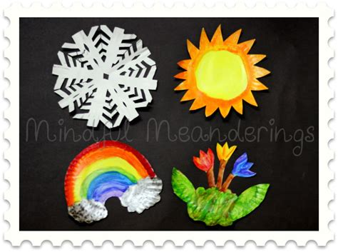 seasons crafts for paper plate four seasons craft artsy craftsy